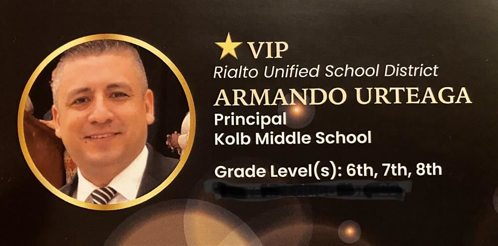 Armando Urteaga Kolb Middle School Principal Wins Educator of the Year
