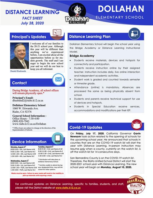 Distance Learning Fact Sheet