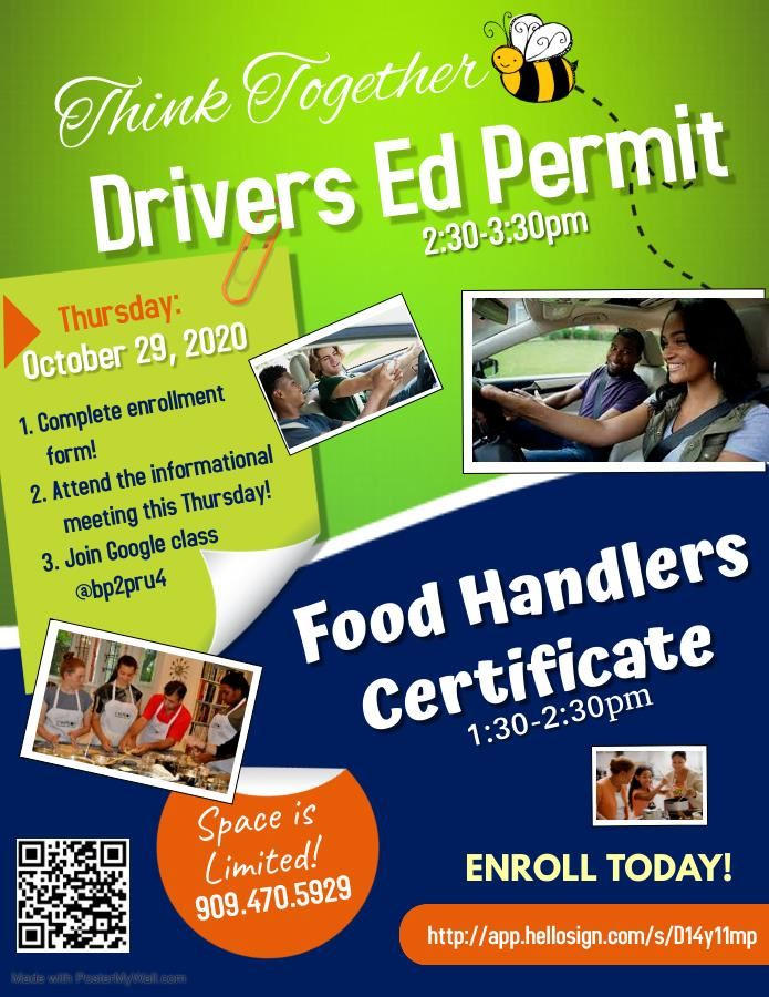 drivers ed and foods handlers