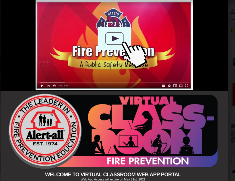 Virtual Class Fire Prevention