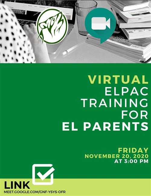 ELPAC Training For Parents