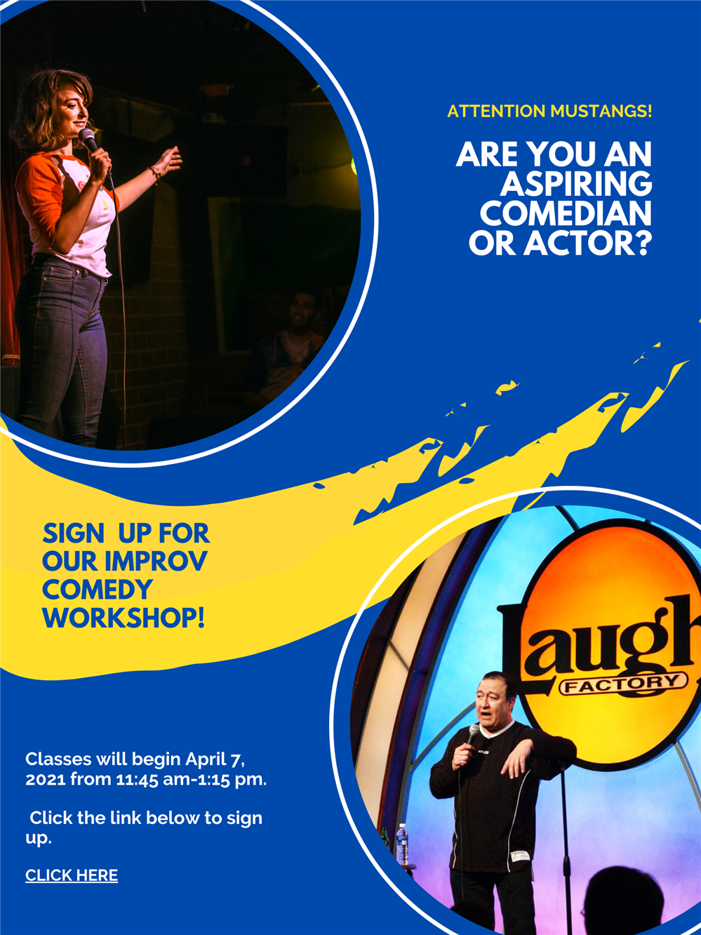 Improv classes flyer