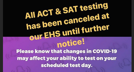 ACT & SAT testing canceled